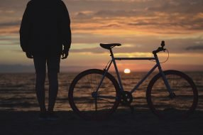 Bike on beach photo